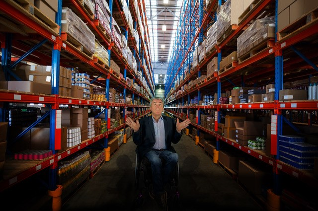 Chris in warehouse